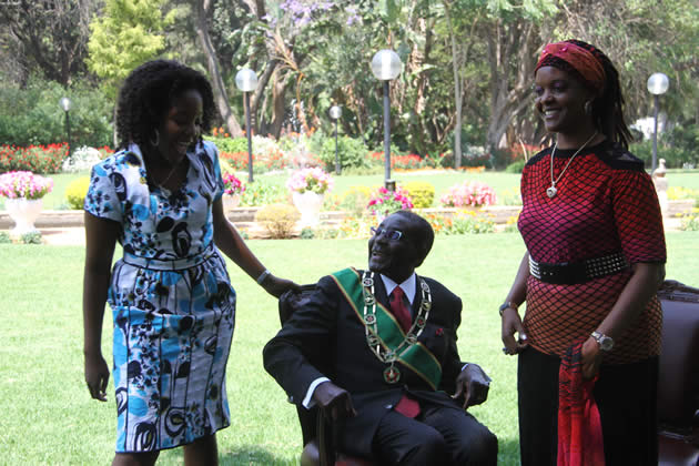 president-mugabe-first-lady-amai-grace-mugabe-and-their-daughter-bona-at-state-house-before-the-opening-parliament
