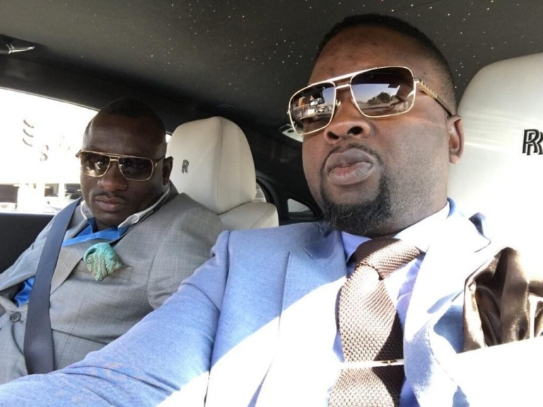 "The late businessman Genius ""Ginimbi"" Kadungure and friend Farai Nomatter ""Kit Kat"" Zinyengere"